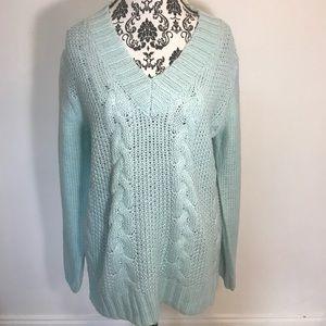 NWT ANDREA JOVINE women's sweatshirt sweater blu